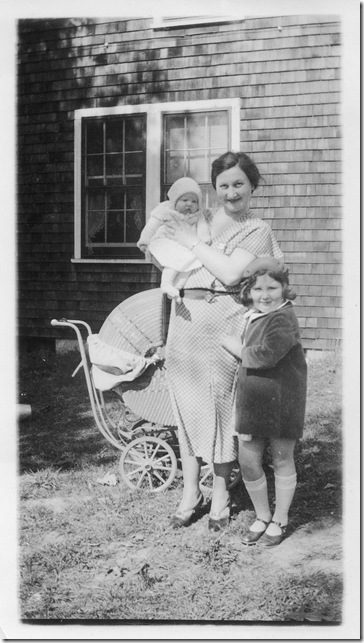 Mom (right), Gerry (left), and Nana, at their house