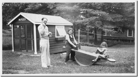 Mom (left) and Gerry playing on the seesaw  by Rutger