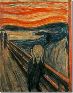 Edvard Munch's Skrik (The Scream). Public domain image from http://en.wikipedia.org/wiki/The_Scream